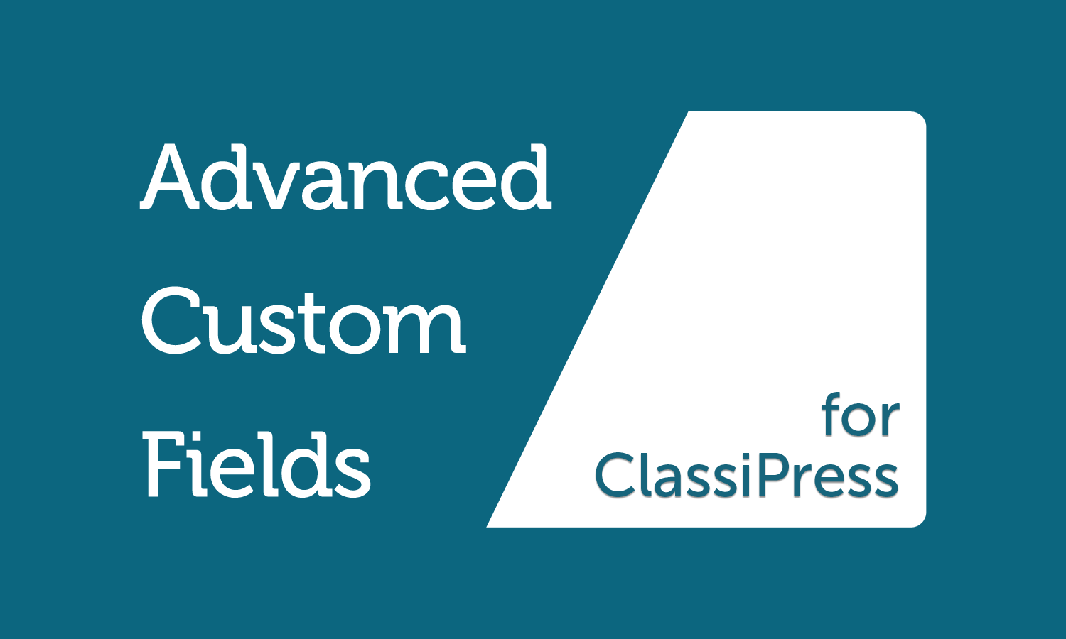 Advanced Custom Fields ClassiPress Plugin