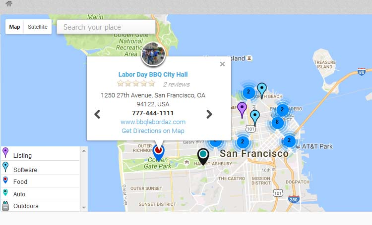 Home page map with multiple listings on same address