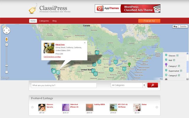 MapPress Home Page Map