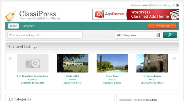 ClassiPress Child Themes - Grid