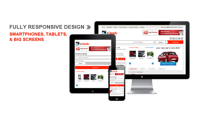 Eclassify is fully responsive and compatible with all types of devices.