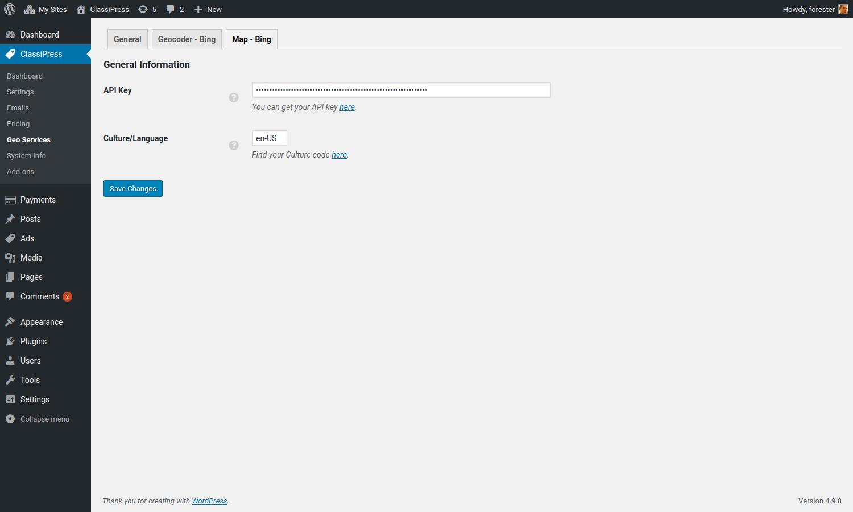Bing Maps WordPress Plugin for AppThemes