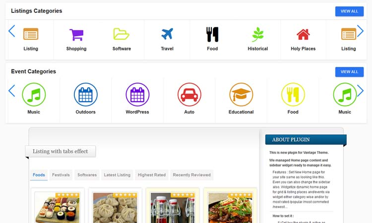 Vantage Home Control WordPress Plugin