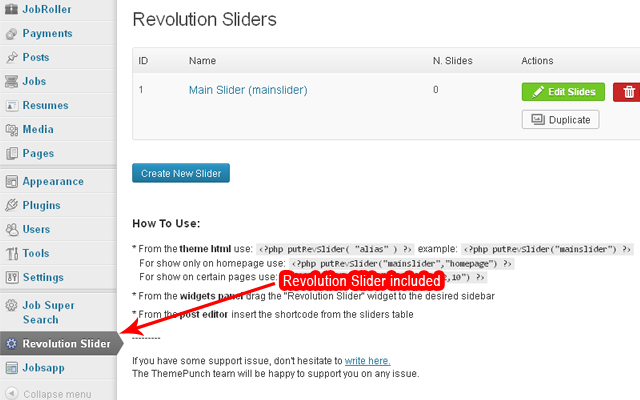 Revolution slider is included, It's auto-installed