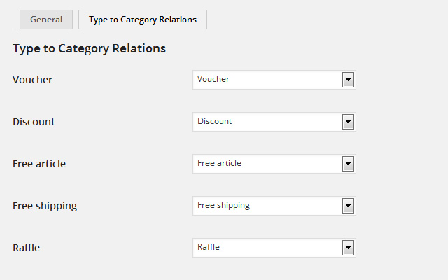 Relations Settings