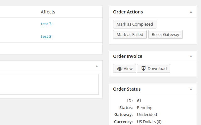 View or download invoices from Order admin pages.