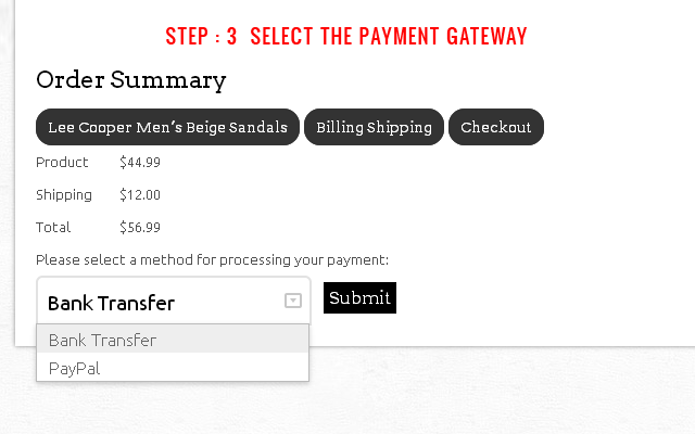 Step 3 : Select Gateway