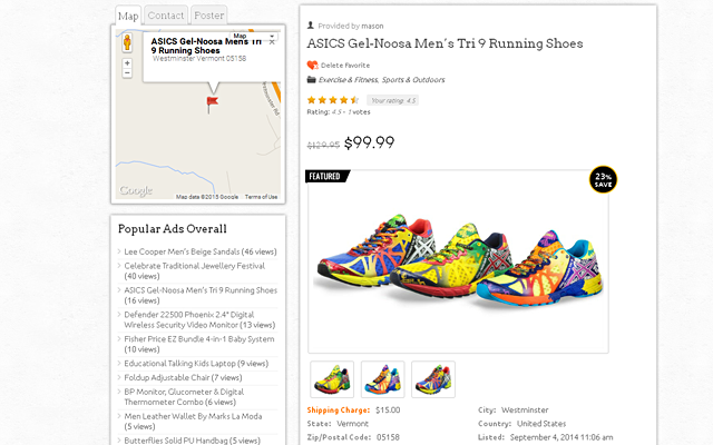Product/Ads Detail Page With Left Sidebar