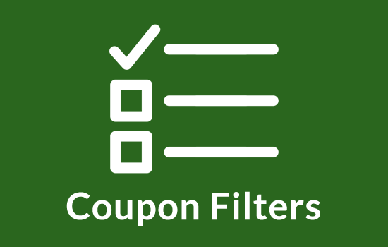 coupon filters wordpress plugin to filter by offer/deal type