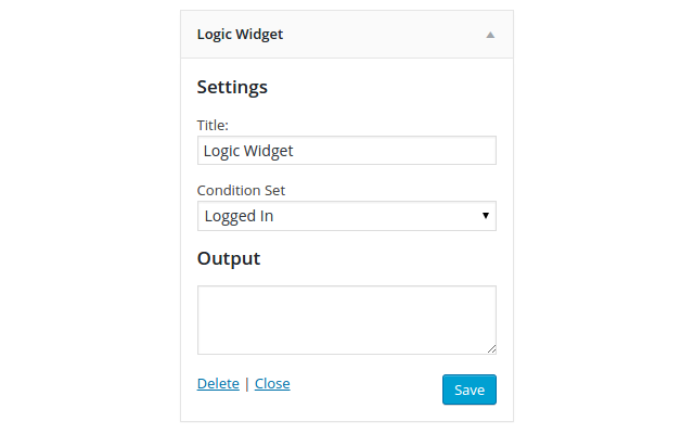 The Logic Widget allows you to quickly and easily conditionally display content in any…