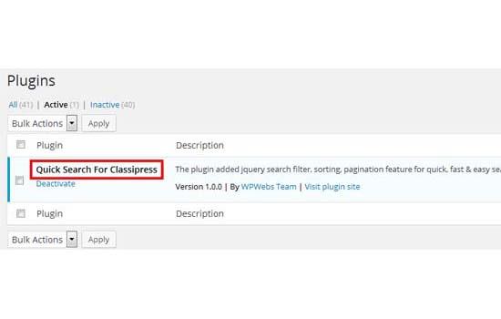 Quick Search Classipress WordPress Plugin | AppThemes Marketplace