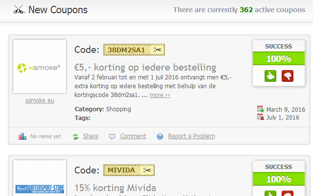Imported Coupons