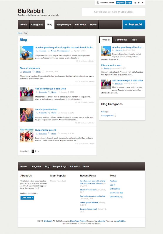clasifichados childtheme - blog list