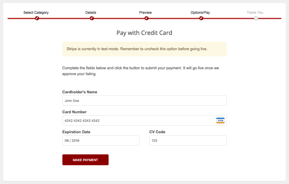 Stripe WordPress Payment Gateway Plugin