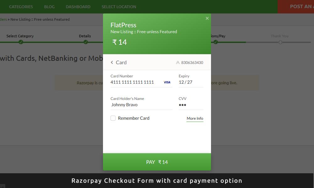 Razorpay Payment Gateway Plugin (India) | AppThemes Marketplace