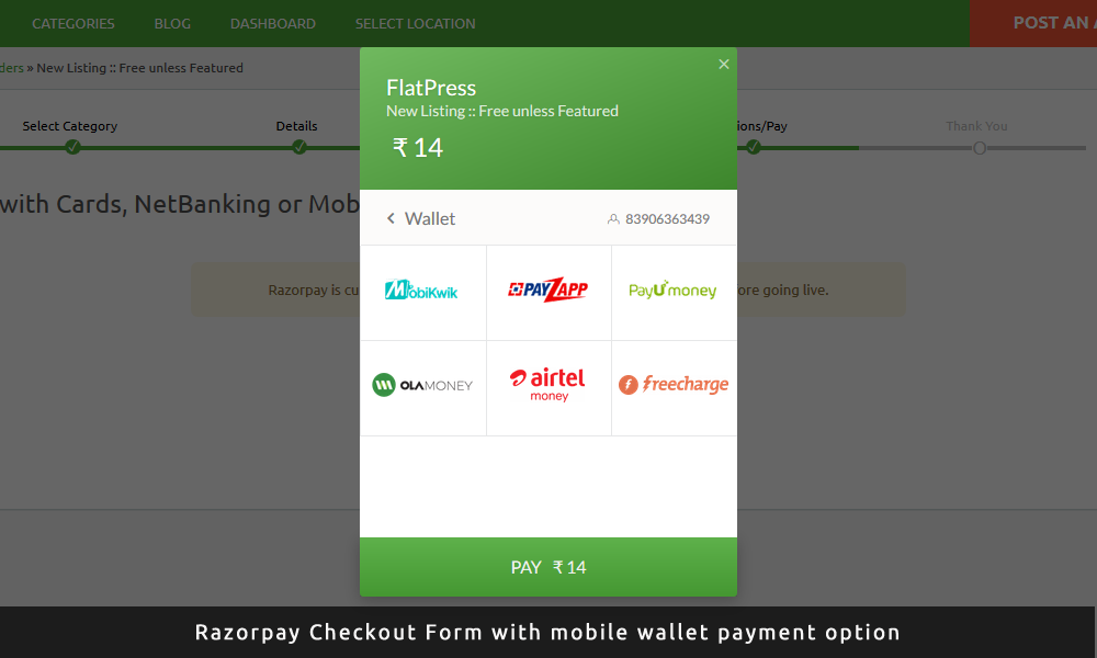 Razorpay Payment Gateway Plugin (India) | AppThemes Marketplace