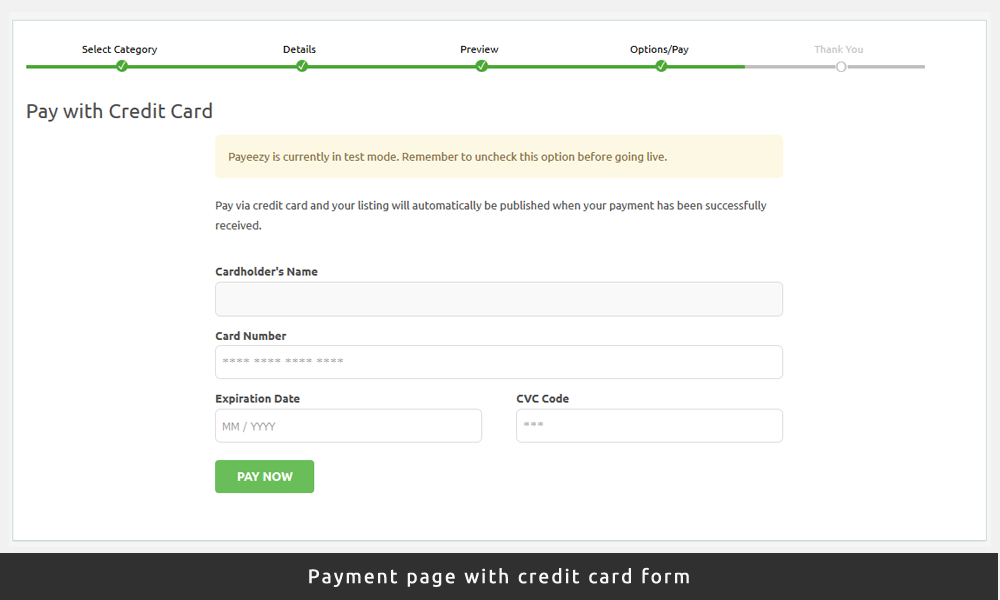 First Data Payeezy Payment Gateway for WordPress AppThemes