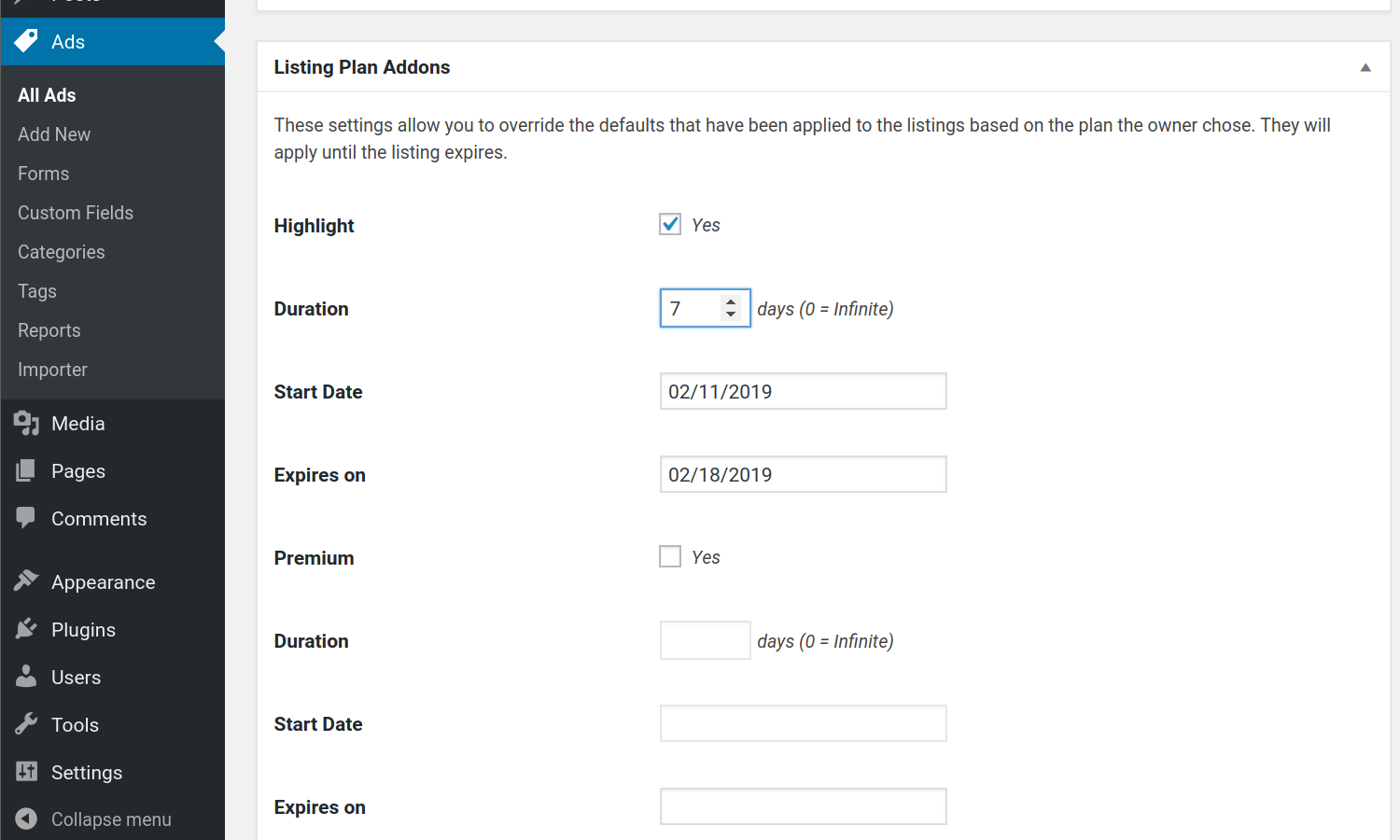 #1 Set addons to the listing via admin form. Add-ons can be manually set by Admin via…