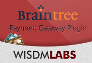 Braintree Payment Gateway Plugin by WisdmLabs