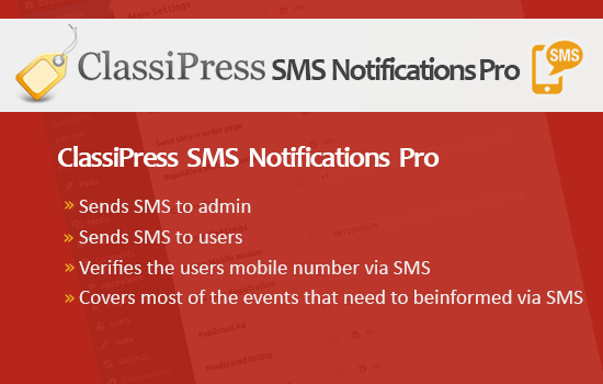 classipress sms notifications